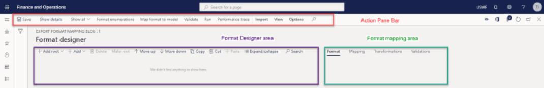Export Model Mapping Designer