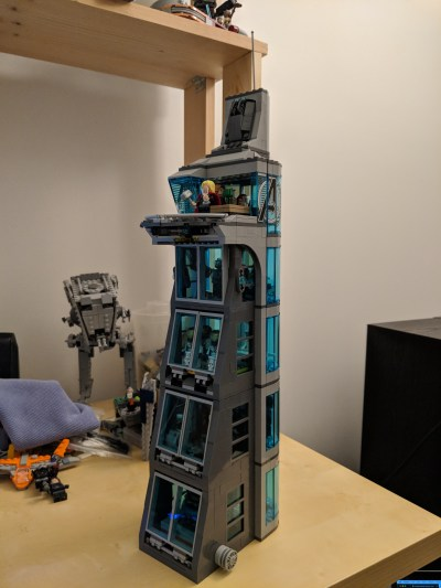 LEGO 76038 Attack on Avengers Tower Modified with Two ...