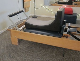 maternity support on reformer in Pilates studio