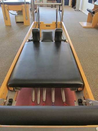 reformer close-up in the Pilates studio