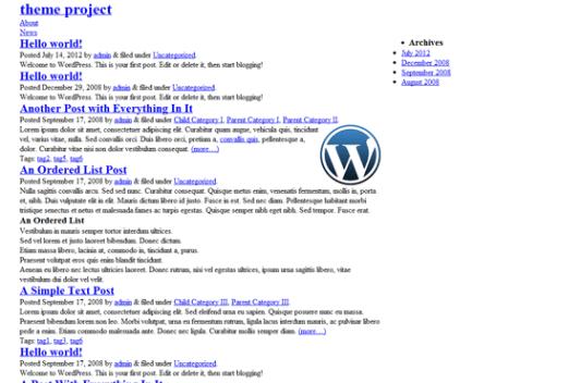Blank Responsive HTML5 WordPress theme - Dynamicweblab.com