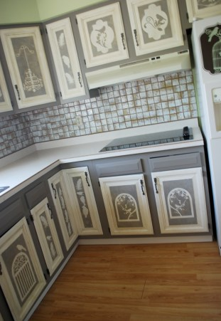 chalk paint on cupboards