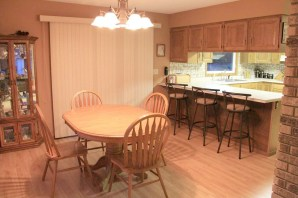 Before: dining room/kitchen