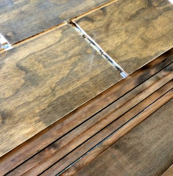 Plywood on left, alder on right