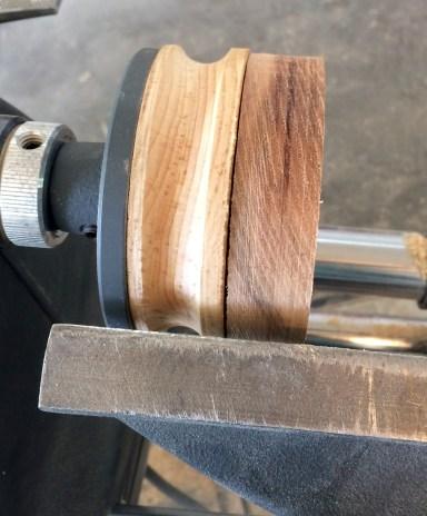 Two wheels glued together