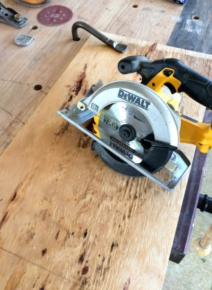 Plywood clamped and marked