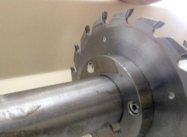 Close-up of saw blade