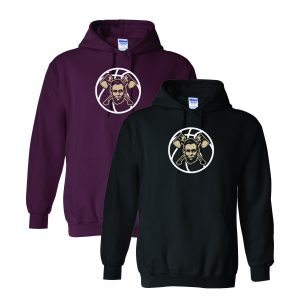 Maroon & Black Sweatshirts with Lincoln Basketball on Chest