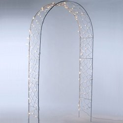White Simple Arch with Lights