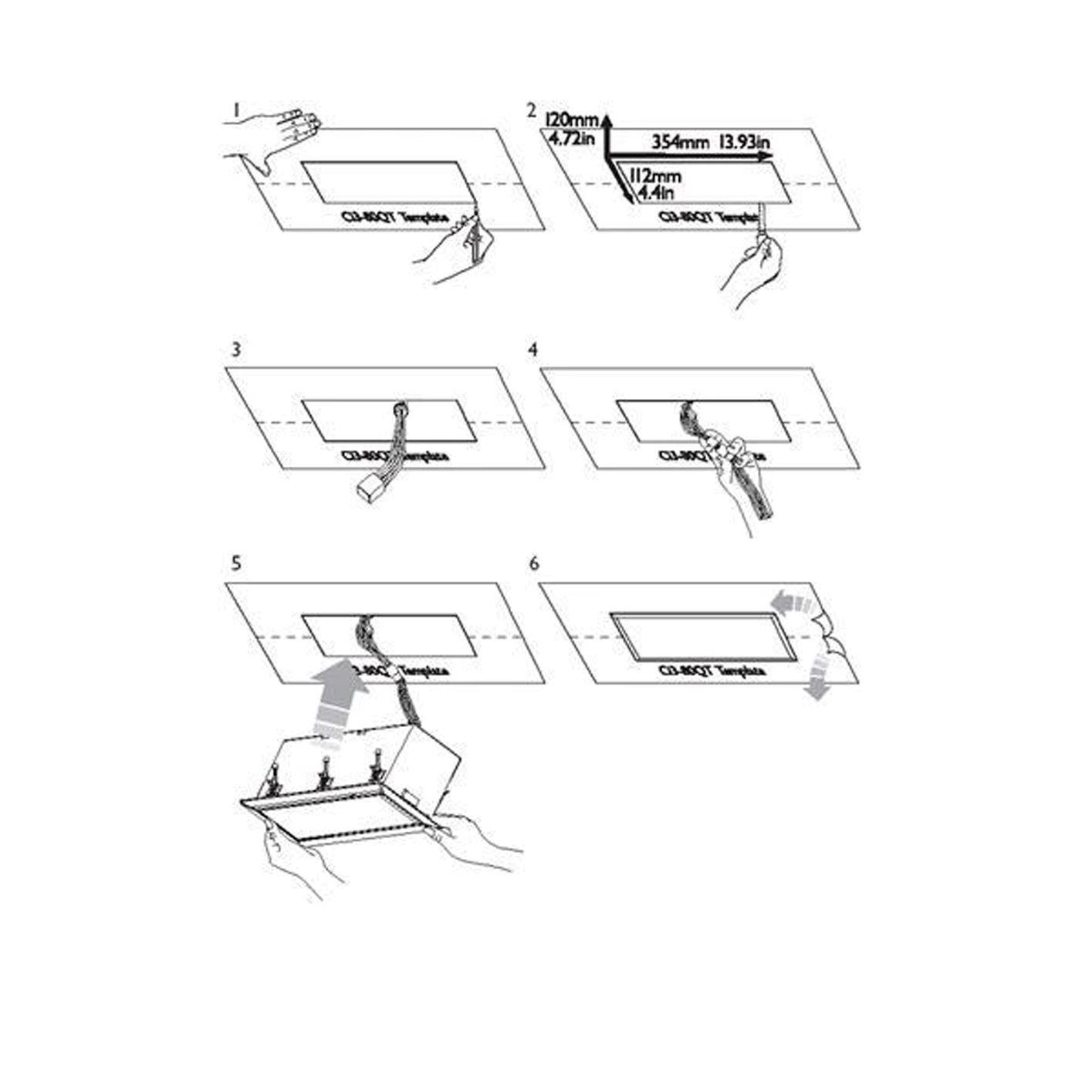 . KEF 3 Way Quiet Motorised In-Ceiling Rectangular Speaker.