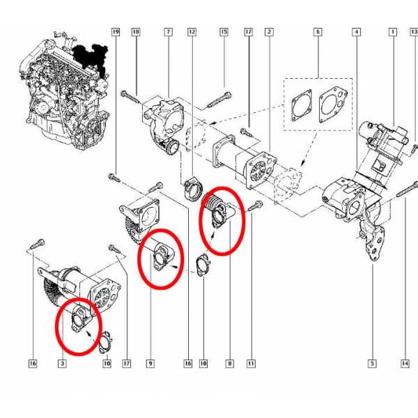 plaque suppression vanne egr renault 1.5dci