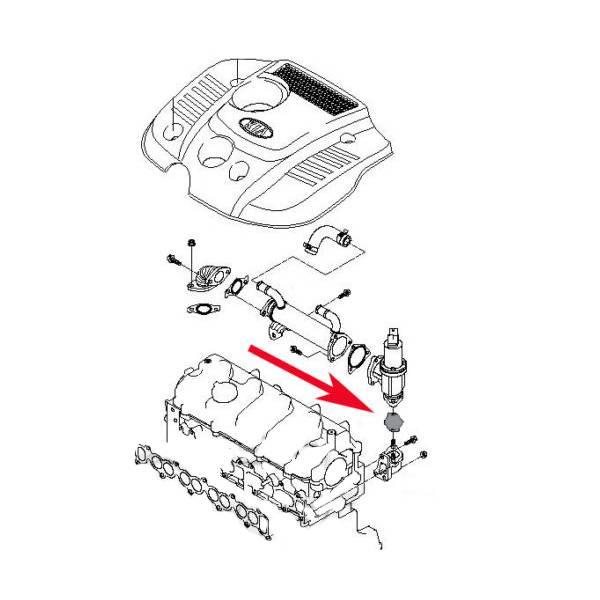 Plaque de suppression de la vanne EGR pour les moteurs 2.0