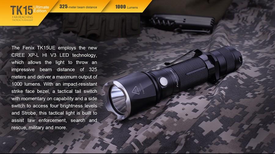 Taktické LED svietidlo Fenix TK15UE