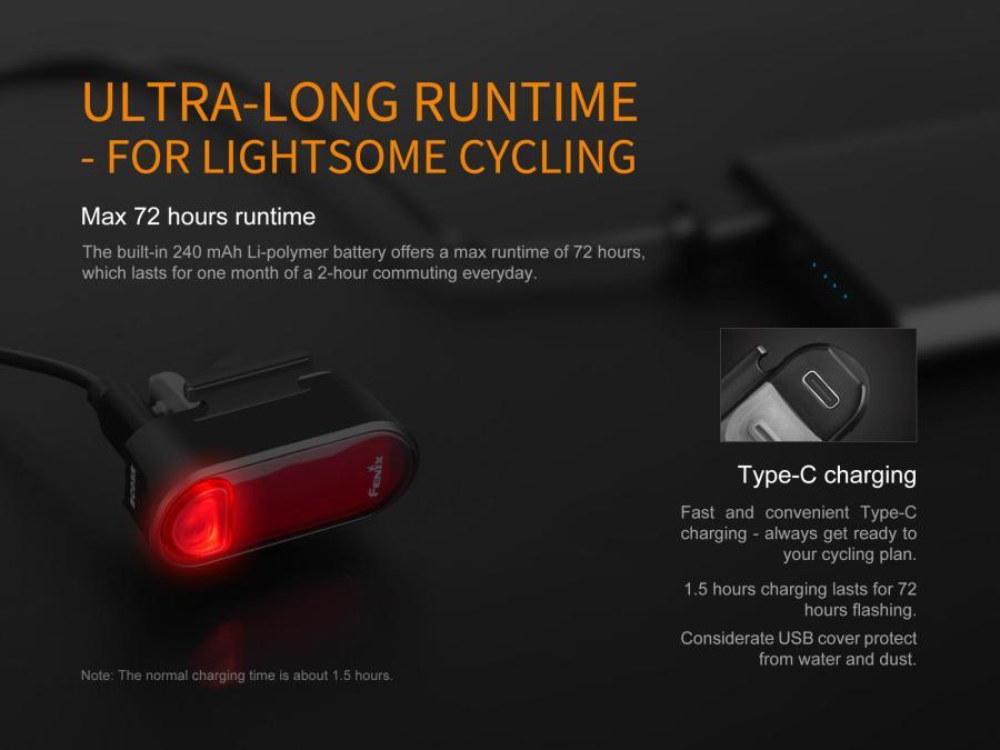 Nabíjacie LED cyklosvetlo Fenix BC05R