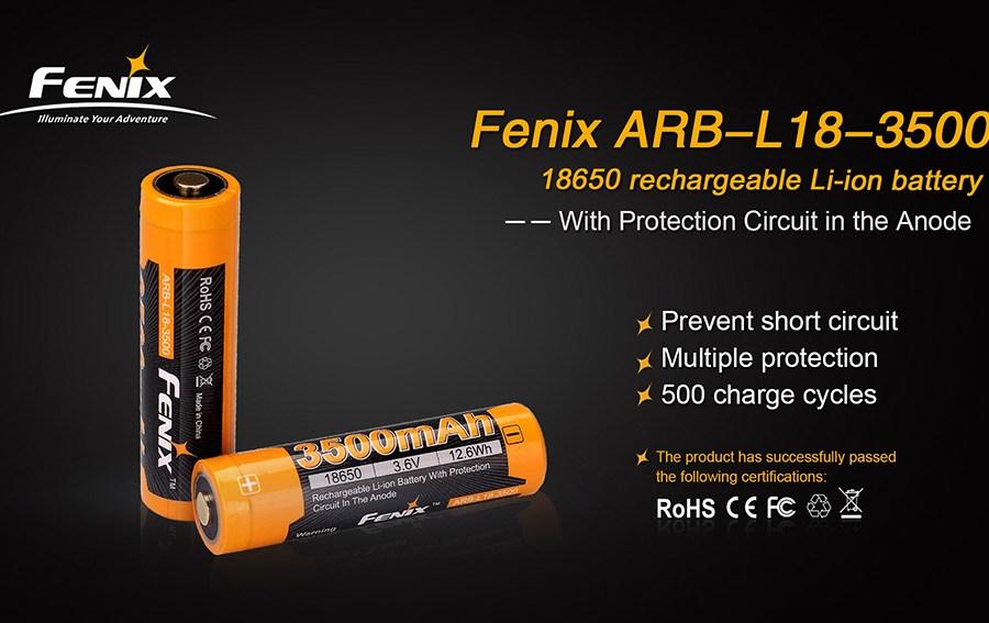 Li-ion akumulátor Fenix 18650 3500mAh