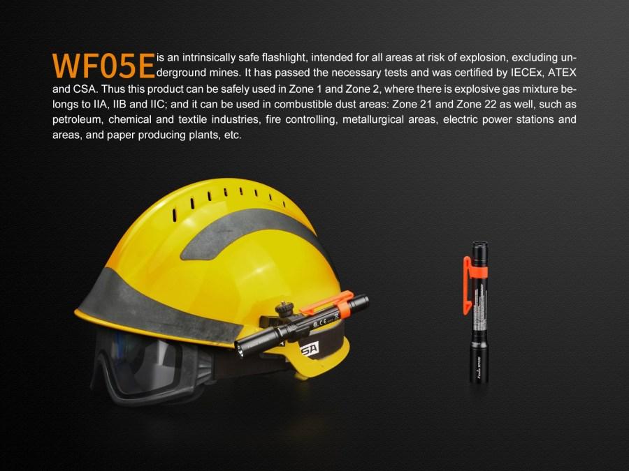 LED baterka Fenix WF05E ATEX certifikát