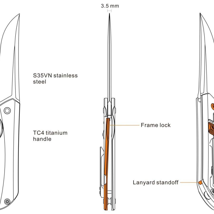 Zatvárací nôž Ruike Hussar M121-TZ