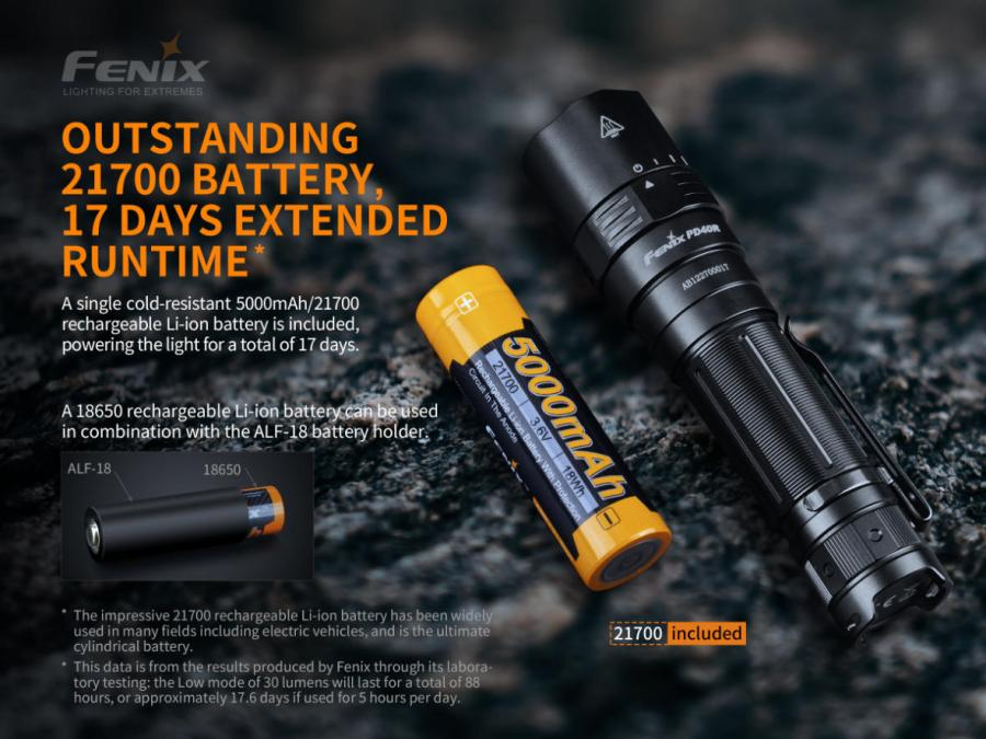 Nabíjacia LED baterka Fenix PD40R V2.0 9