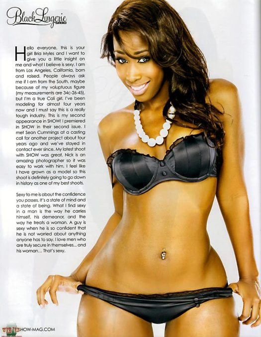Bria Myles set from Black Lingerie from SHOW Magazine