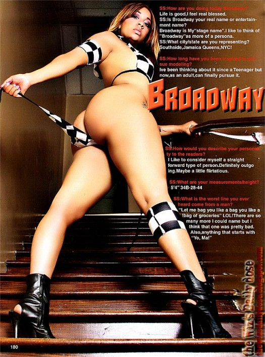 Broadway in the latest issue of Straight Stuntin - scans courtesy of TheWizsDailyDose