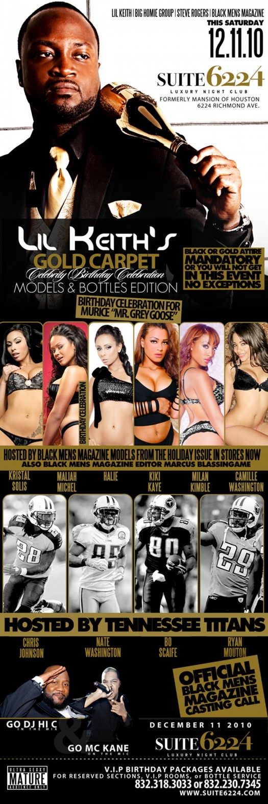 Lil Keith B-Day Party Dec 11th in Houston with Maliah Michel, Kristal Solis, Halie and more