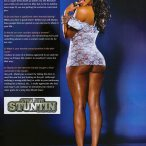 Crystal Lee in the latest issue of Straight Stuntin - courtesy Del Anthony