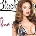 Erica Mena @Erica_Mena on the cover of SHOW Black Lingerie