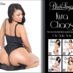 Kyra Chaos @KyraChaos on the cover of SHOW Black Lingerie