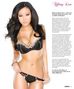 Tiffany Luu @TiffanyLuu in latest issue of Black Lingerie