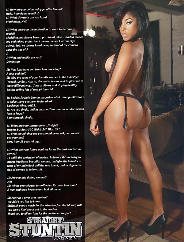 Jennifer Morel @dancermorel in Straight Stuntin Issue #31