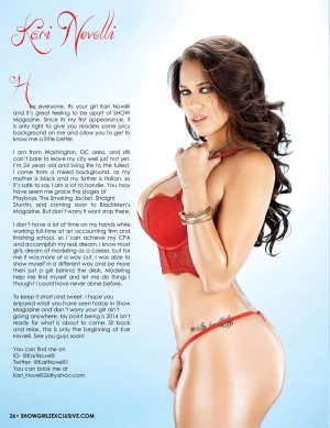Kari Novelli @KariNovelli1 in SHOW Magazine Issue #27
