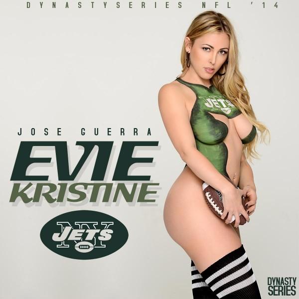 Evie Kristine @eviekristine: NFL Bodypaint 2014 – NY Jets – Jose Guerra