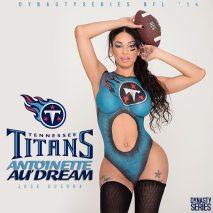 Antoinette Audream @antoinetteaudream: NFL Bodypaint - Tennessee Titans - Jose Guerra