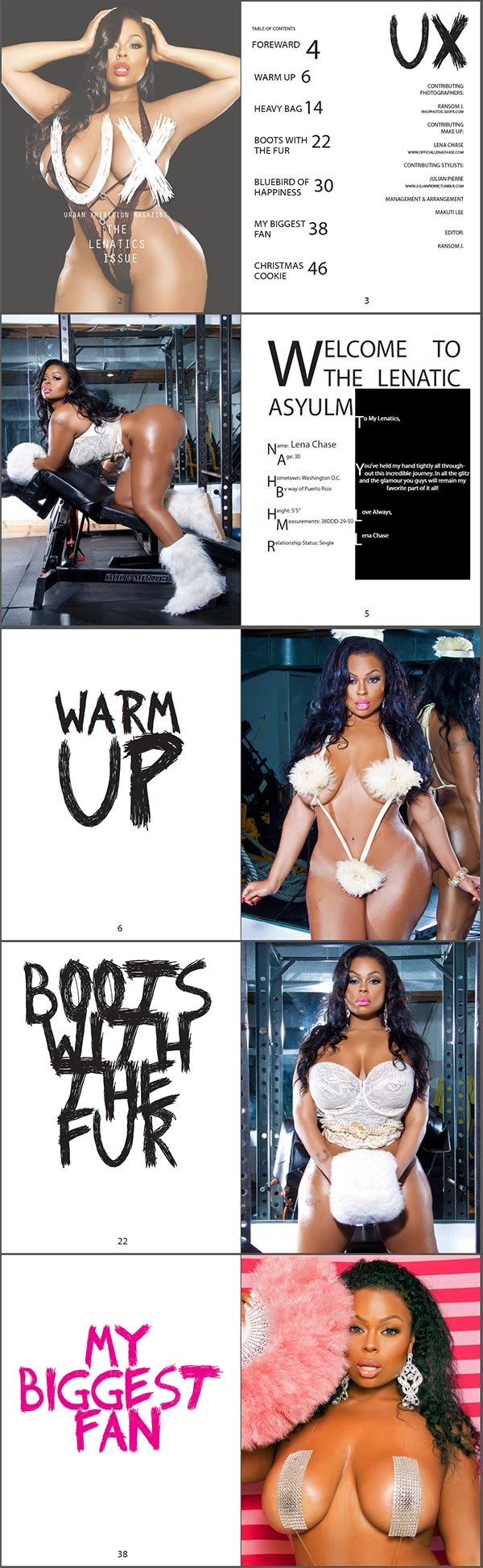 Lena Chase @lena_chase in UX Magazine : The Lenatics Issue - Rho Photos