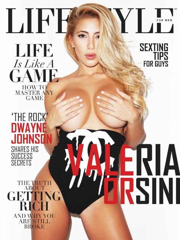 Valeria Orsini @valeria_orsini on cover of LifeStyle for Men Magazine