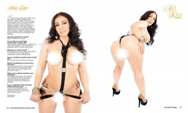Nia Rae in SHOW Magazine - Art of Sexy