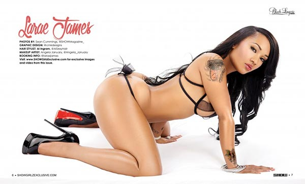 Larae James @Larae_james in SHOW Magazine - Black Lingerie #23