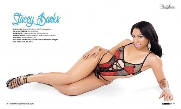 Stacey Banks @staceybanks_xo in Black Lingerie #23 - SHOW Magazine