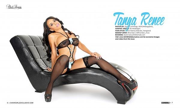 Tanya Renee @exotictanya in SHOW Magazine Black Lingerie #24