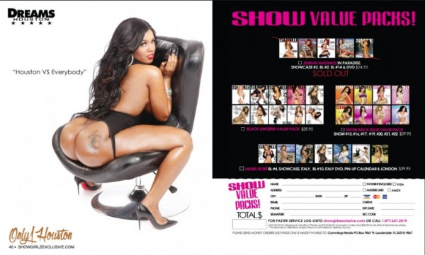 Only 1 Houston in SHOW Magazine Black Lingerie