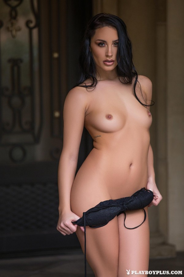Kendra Cantara in Front Door Strip - Playboy