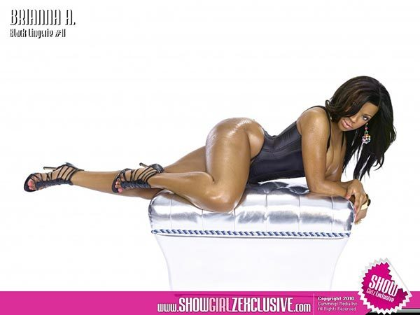 Brianna Amor in SHOW Magazine Black Lingerie #11