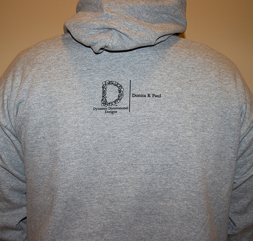 gray wizard fenworth hoodie with brown and black lettering