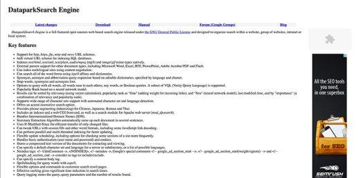 dataparksearch website crawler