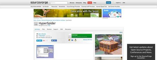 hyperspider website crawler