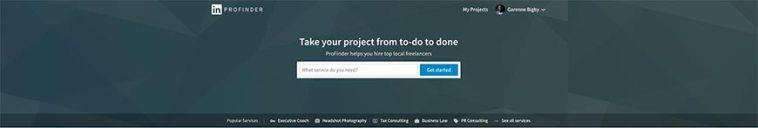 linkedin profinder freelance we bsite