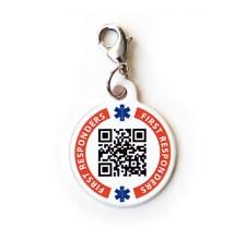 ECI dynotag charm - front http://dynotag.hostedbywebstore.com/Dynotag®-Enabled-Emergency-Information-Bracelet/dp/B00P3BMY1Y