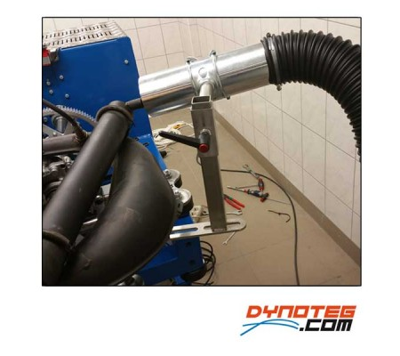 dynoteg adjustable support for exhaust gas extraction
