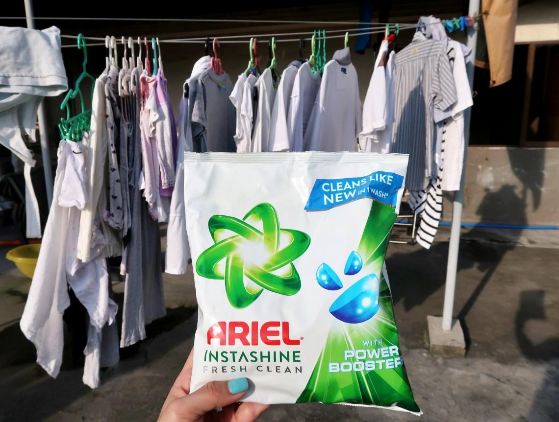 dyosathemomma: Ariel Instashine review, laundry detergent, mommy blogger ph