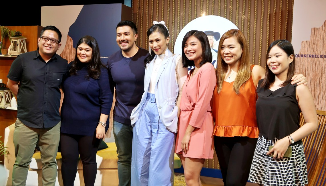 dyosathemomma: #QuakerDeliciousMornings Quaker Oats, mommy blogger ph, Alex Gonzaga, Luis Manzano